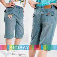 2014 Free Shipping Boys Jeans Kids Summer Shorts,Little Boy Half Pants Summer Wear   K0829