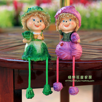 Rustic resin doll decoration decorations furnishings small home accessories shelf bookshelf decoration