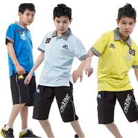 BOY  child sports set child short-sleeve shorts  free shipping