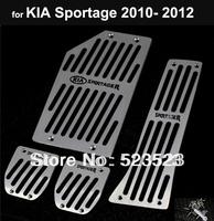 Free Ship for Kia Sportage 2010 2011 2012 MT non-slip Fuel Brake Foot Rest Pedals 4pcs  Aluminum Alloy- Manual Transmission