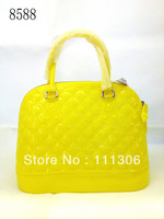 2013 summer new female bag , candy color fluorescent bump color small pure and fresh and hand bag jelly envelope bag