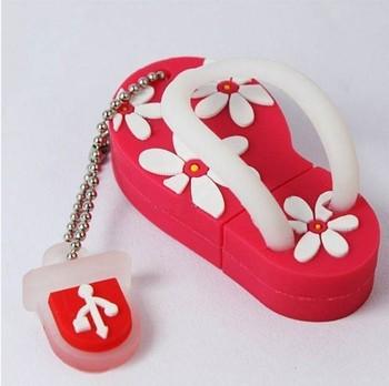 RB23 4Color NEW Cute Flower Slipper Shoe USB Flash Memory Pen Drive Stick 4/8/16/32GB