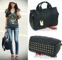 2013 Women's Handbag Designer Brand Fashion Rivet PU Leather Shoulder Bags Star Style Large Capacity Tote Bag Messenger Bags Sac