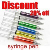 OF001 Hotsale!!! 6 COLORS Syringe pen Nurse Ball point pen promotion( Protect White Box Packing ) 100pcs/lot Free Shipping