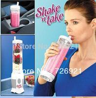 20pcs/lot Hot Sale Mini Multifunction SHAKE 'n TAKE Blender , Smoothie & Protein Shake Maker Juicer Meat Grinder Food Mixer