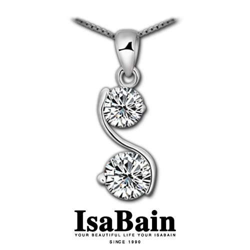 Isabain 925 pure silver cupid cutting drill chain necklace female(China (Mainland))
