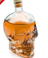 free shipping  Crystal Skull Head 180ml Vodka Wine Glass Bottle Decanter   small size