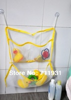 Free shipping 3pcs/lot Baby shower baby bathroom toy bags bath toys storage suction cup toy bag