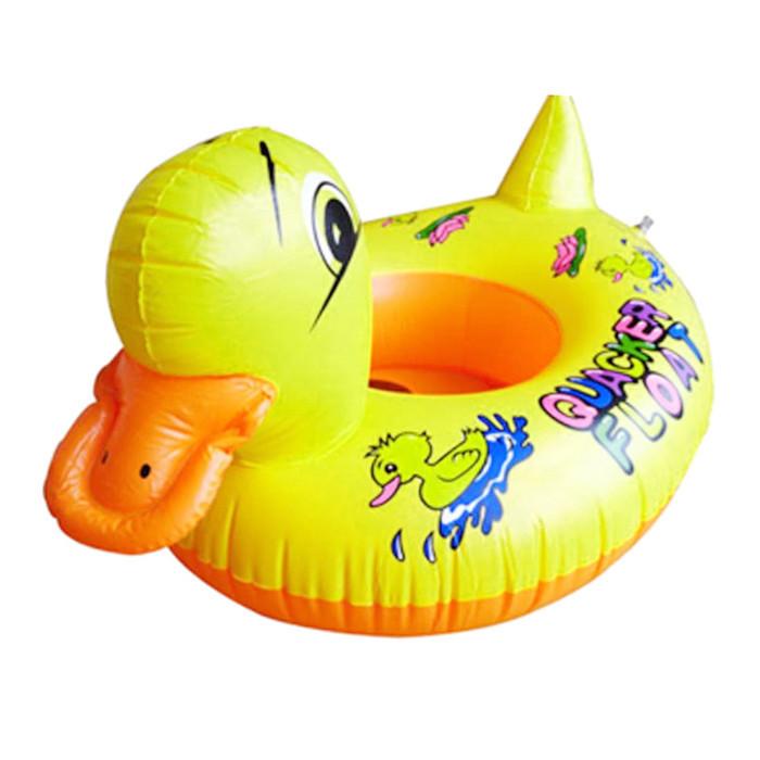 Baby Kids Swimming Swim Yellow Rhubarb Duck Trainer Seat Inflatable Boat Ring Pool 05042(China (Mainland))