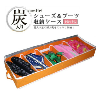 Multi-colored bamboo shoebox antibiotic windows shoes storage box storage bag