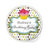 50PCS/LOT 2.5CM Diameter Promotion Customized Birthday/Gift labels Stickers and Labels for Baby Shower Favor Bag/Box SeriesII