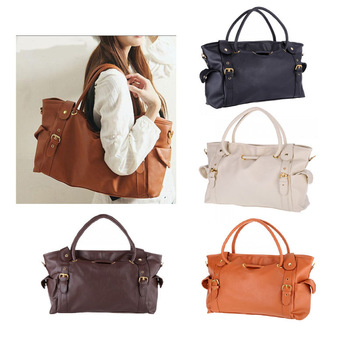 Free Shipping 2013 new female Lady OL Fashion Women Lady PU Leather Handbag Big Capacity Tote Bag Satchel Shoulder Bag 4 colors