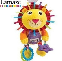 50% discount sales promotion Lamaze Musical lion plush educational bed bell toy,yellow lamaze bed hang/bell baby mobile