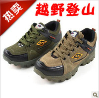 BIG Brand Designer fashion genuine leather hiking shoes,men outdoor mountain climbing breathable sports shoes