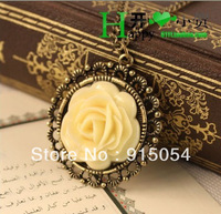 Free shipping (Min order $15)4049 European and American jewelry retro nostalgia roses Long necklace sweater chain
