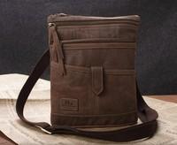 New arrival  vintage 100% genuine leather male casual shoulder bag ,cow leather messenger bag YG066