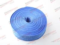Blue 2''x2mm universal glass fibre exhaust heat wrap