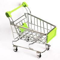 #Cu3 Mini Supermarket Handcart Green Shopping Utility Cart Mode Green Storage