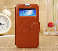 Luxury S-View Flip Cover for Samsung Galaxy S4 Leather Case Wallet Style With Card Holder Stand For Galaxy S IV i9500