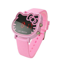 Promotion fashion  Lovely Hello kitty /Led Digital Watch For Women Mix colour order Free shipping