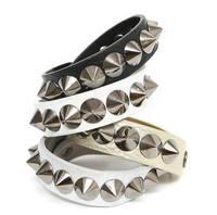 22cm PU Leather New Style Fashion Spike PUNK Bracelet Women AB189
