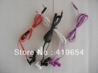 Earphone Headphone Headset 3.5mm Plug With Retail Package 4 Colors 10pcs/lot Free Shipping