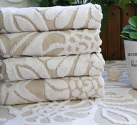 Waste-absorbing 100% brief cotton jacquard plus size bath towel dlh65048-24 white