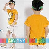 Free Shipping Children Summer Clothes Boy Carton Tshirts Cotton Tees  K0842