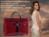 2014 New Fashion Vintage Luxury Women Bag Women Messenger Bags Women Handbag Tote Leather Bags Brand Black And Wine Red B69A3
