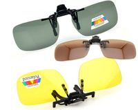 Wholesale Retail Polarized Sunglasses Clip on Eyeware for Myopia Fishing Driving for Day/Night use Non-flip-up