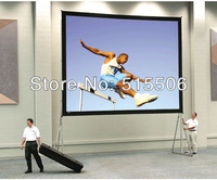 "Front projection portable fast fold screen 16:9 200""inch with alumium flight case,free shipping !!"