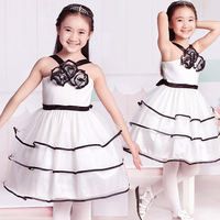 New fashion wedding dress princess dress girls summer