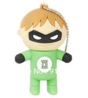 Wholesale Green Lantern shape usb flash memory disk 2GB 4GB 8GB accept mix order