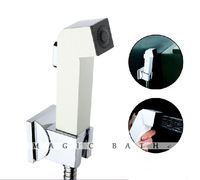 Casaba ABS Bidet Sprayer Supercharging Handheld showerhead Square shape with bracket & hose-Ivory White Free Shipping