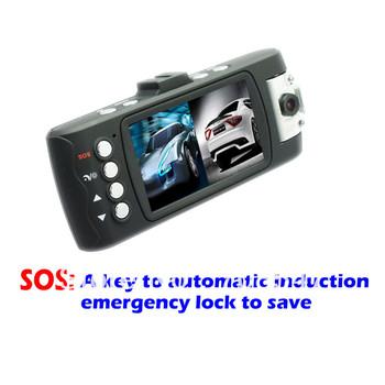 Freeshipping Car Dvr X6 Car camcorder 1920X1080 G-Sensor video recorder Dual Lens H.264 8IR LED night vision