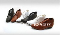 Promotion Free shipping Men's fashion dress shoes oxfords casual PU leather classic shoes white black brown
