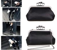 New Women Ring Bag Skeleton Skull Finger Clutch Purse Evening Handbags free shipping wholesale Wallets