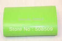 Apple green air free bubble 4D carbon fiber film pvc 1.52x30m PVC free shipping