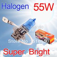 2pcs H3 Super Bright White Fog Halogen Bulb 55W Car Head Lamp Light  V10 12V