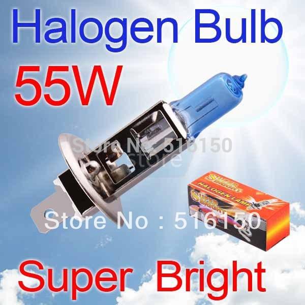 2pcs H1 Super Bright White Fog Halogen Bulb 55W Car Head Lamp Light V10 12V(China (Mainland))