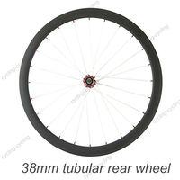 FREE SHIPPING 38mm tubular bike rear wheel 700c Carbon fiber road Racing bicycle wheel,single wheel