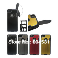 For iphone 5G knife protector case , mobilephone case, case with stainless steel knife for iphone 5G 5S