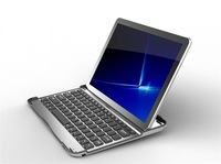 Free shipping Aluminum Bluetooth Keyboard Case for Samsung Galaxy Tab/Tab 2 10.1 P7510 P7500 P5100 P5110