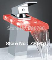 LED faucet temperature sensor LED Glass faucet