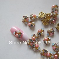 MD-359 3D 50pcs/bag Nail Decoration Metal Shinny Mix Rhinestone Metal Nail Art Decoration