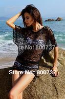 Bikini wrap dress Cover up sun dress 2013 Swim dresses Hot High waist Beach wear without bikinis Black Swimsuit cover ups women