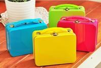 2013 new    colorful Luggage shape high quality iron case . storage case .hot sale