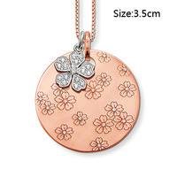 Wholesale Free shipping 925 sterling silver / beautiful / 925 silver necklace with pendant cham NE26