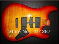 free shipping handmade ashwood strat body flame maple top high quality