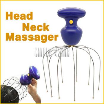 2013 Cheap Head Neck Massager Relaxer Pain Octopus Massager Equipment Stress Relax Scalp
